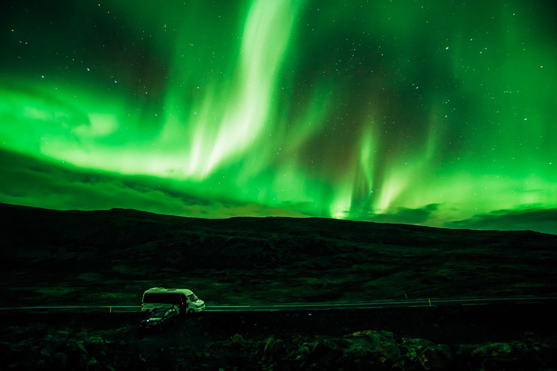 Polarlichter über den Westfjorden