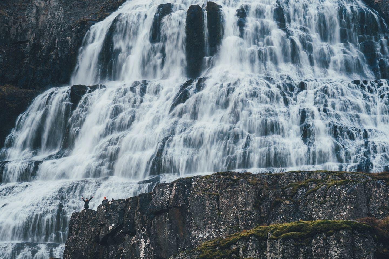 Dynjandi Wasserfall auf Island