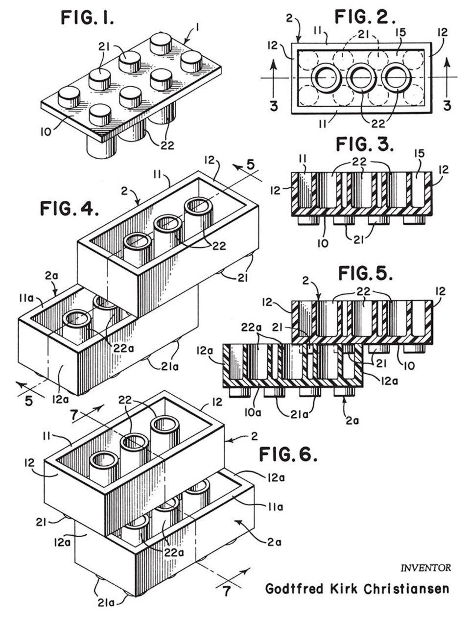Patent LEGO Stein
