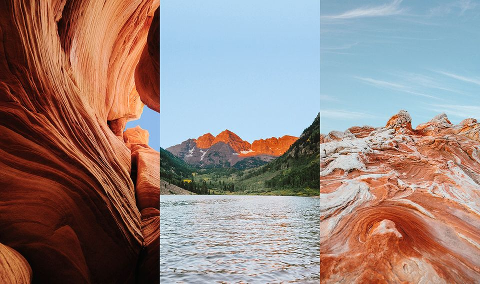 Charles O'Rear: O'Rears Hintergrundmotive zeigen die Peek-a-Boo Schlucht in Utah, die Maroon Bells in Colorado und das White Pocket in Arizona.