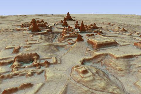 Tikal, aufgenommen mit der LIDAR-Technologie