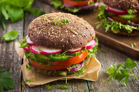 Veganer Vollkornburger