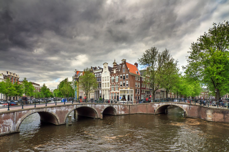 Amsterdam bei Regen