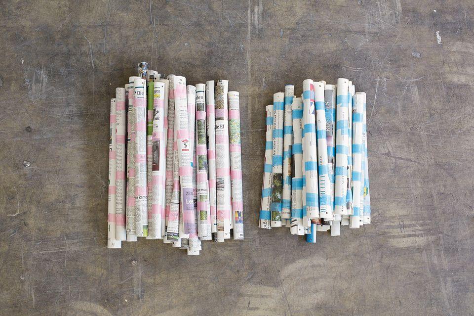 Iglu bauen aus alten Zeitungen
