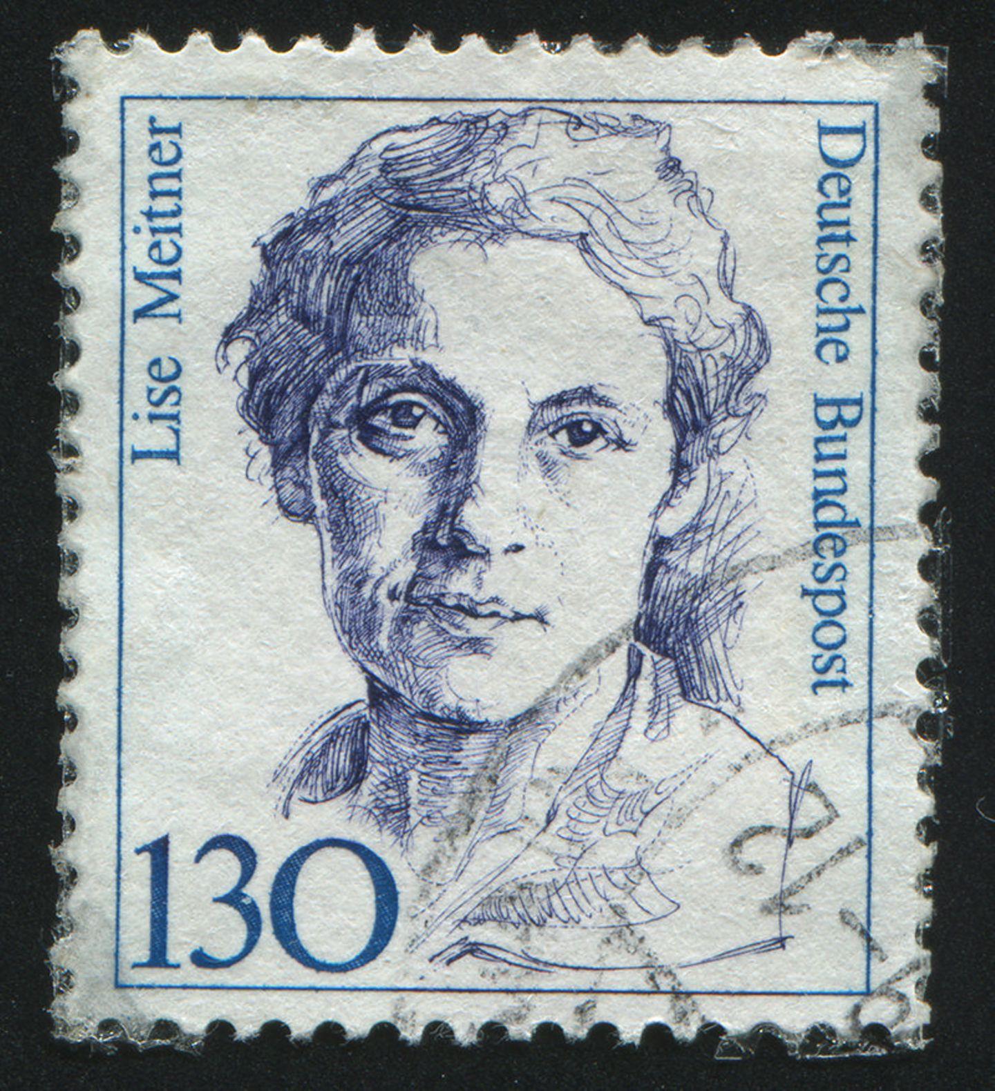 Briefmarke mit dem Bild Lise Meitners