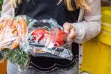 In Plastik verpacktes Gemüse