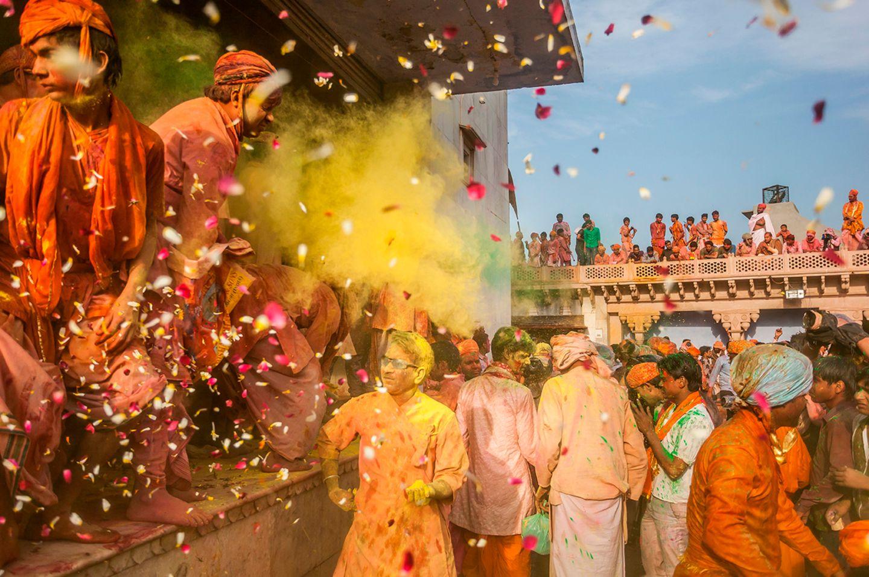 Holi-Fest, Uttar Pradesh, Nandgaon, Indien