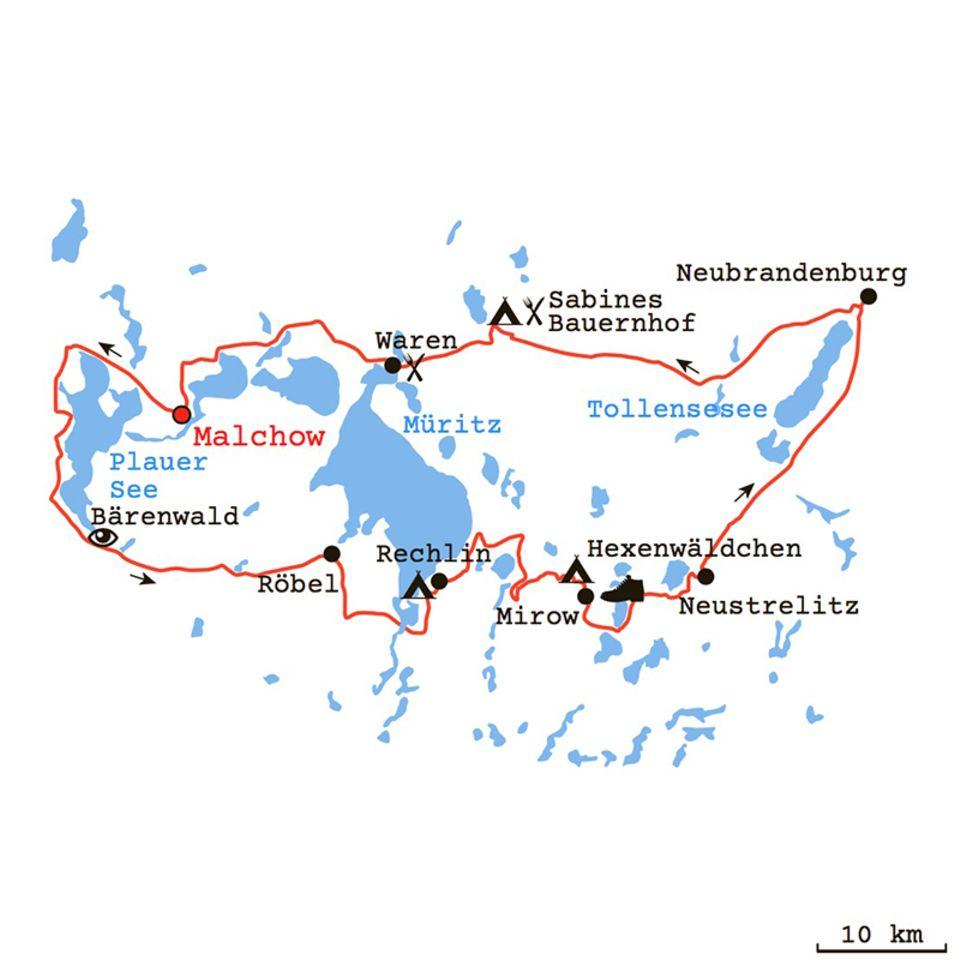 Bulli-Tour durch die Mecklenburgische Seenplatte
