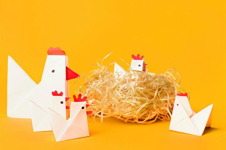 Hühner aus Papier