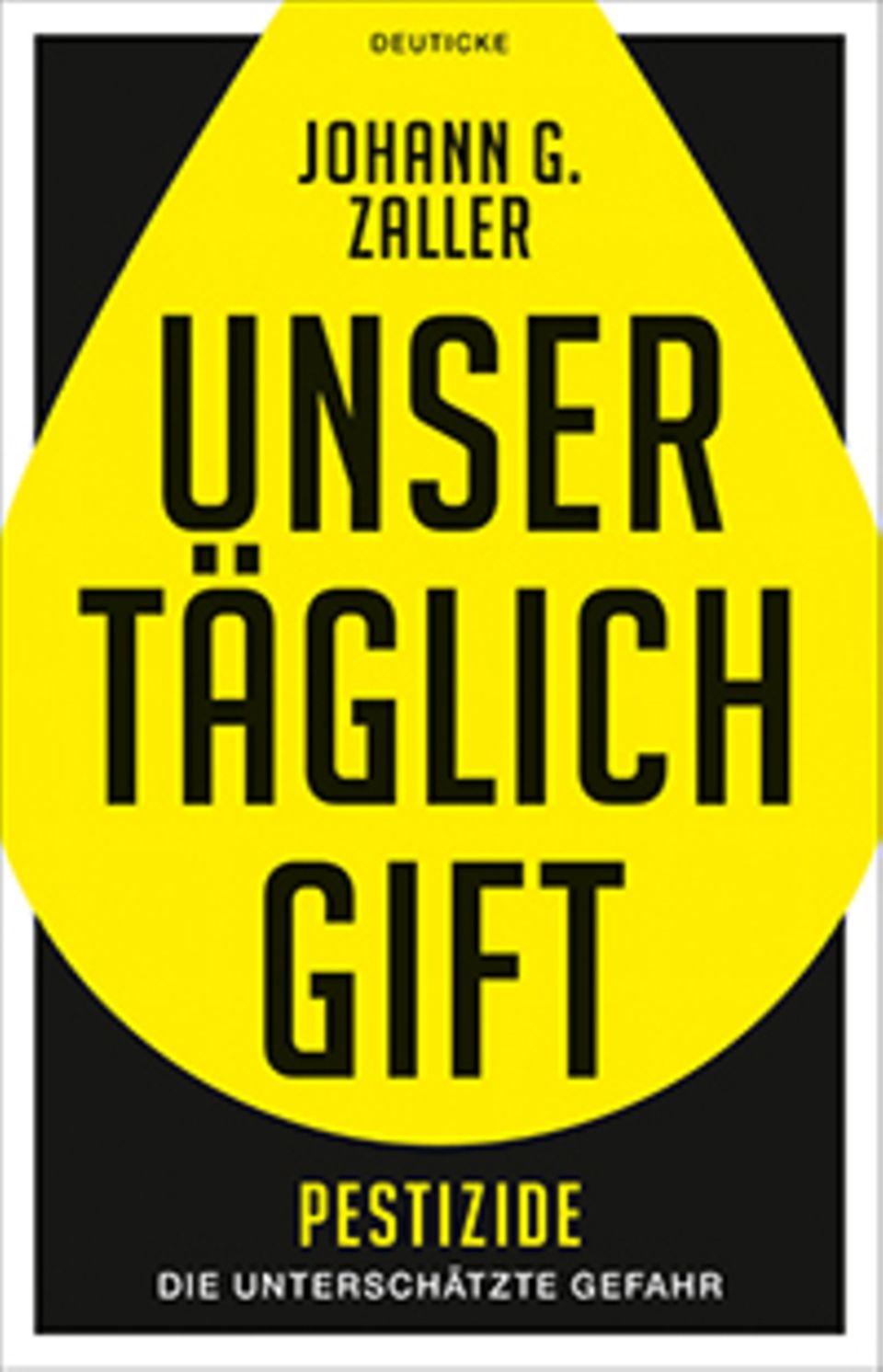 """Buchtitel """"Unser täglich Gift"""" von Johann Zaller"""