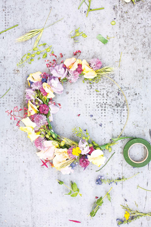 Blumenkranz selber machen