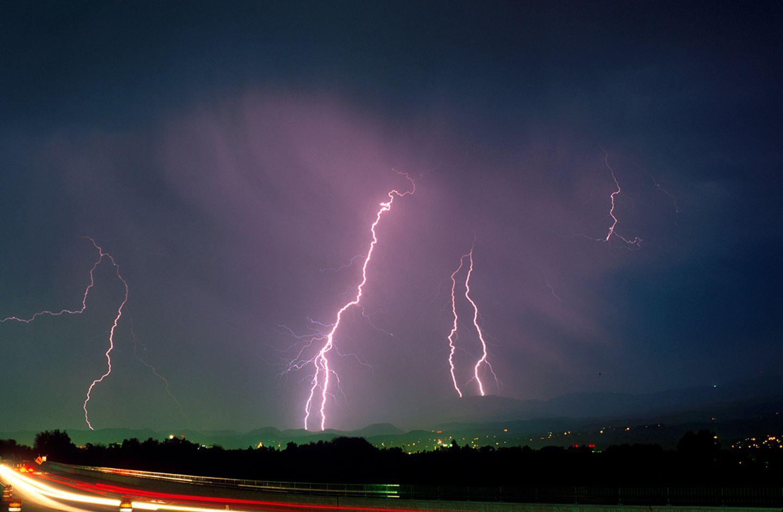Heftiges Gewitter über Idaho: Ein starkes Gewitter über dem US-Bundesstaat Idaho.