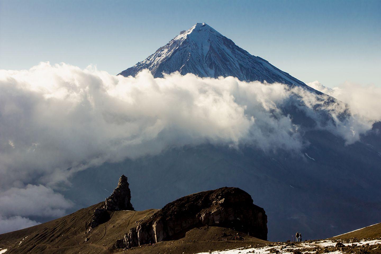 Vulkan Der Korjakskaja Sopka auf Kamtschatka