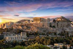 Athen bei Sonnenuntergang