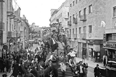 Israel, jubelnde Bürger