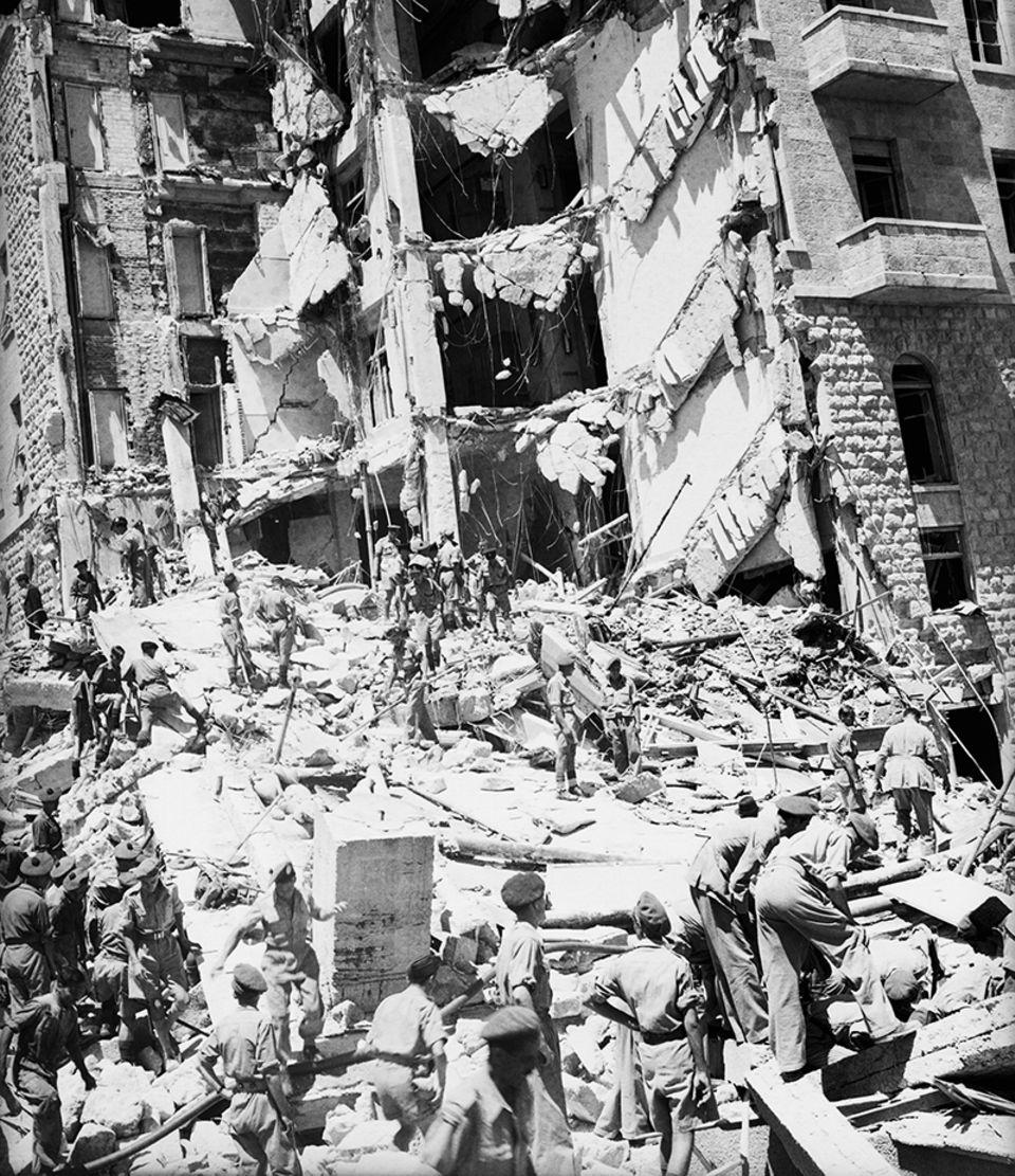 Von Minen zerstörtes King David Hotel