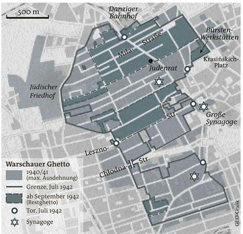 Warschauer Ghetto - Karte