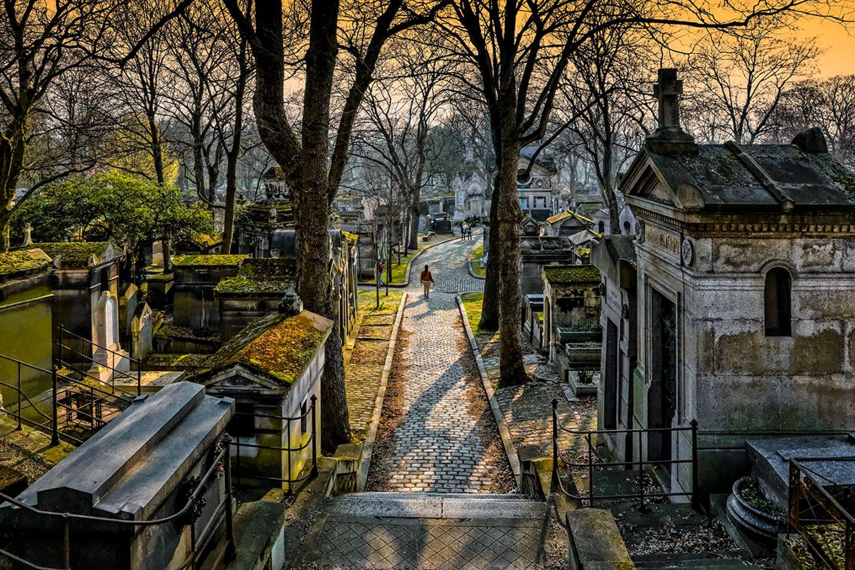 Pere Lachaise Fireidhof in Paris, France
