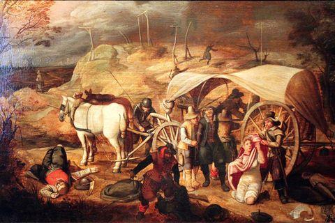 Marodierende Soldaten. Sebastian Vrancx 1647