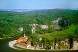 Naturpark Altmühltal: Weltenburger Kloster beim Kelheimer Donaudurchbruch