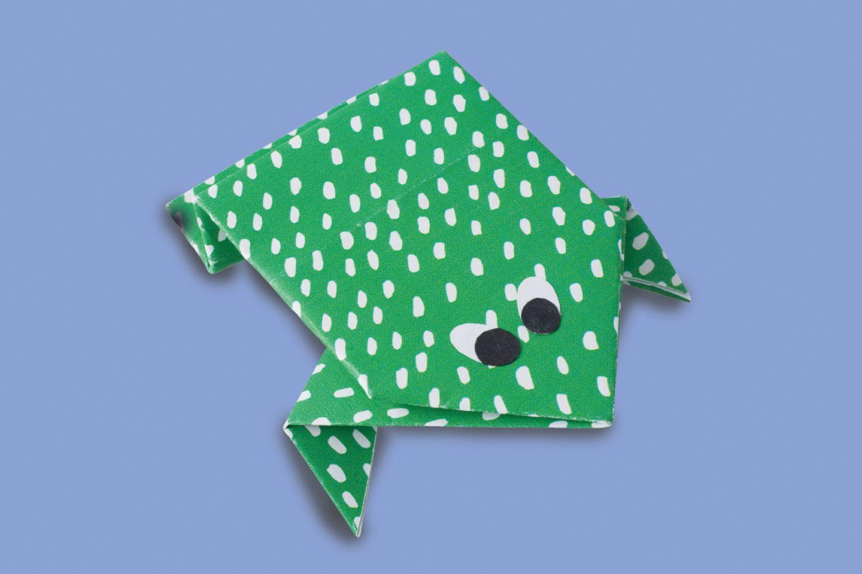 Frosch falten So einfach ist Origami   [GEOLINO]