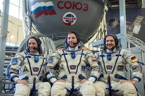 Soyuz MS 09 Crew mit Alexander Gerst