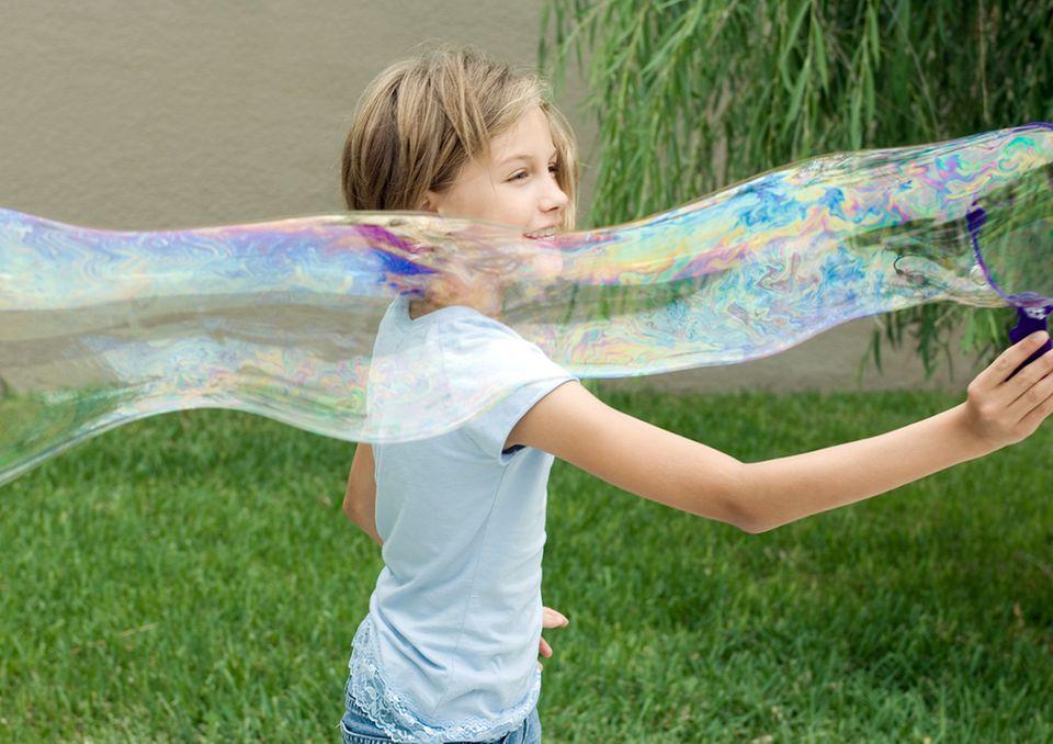 Riesengroße Seifenblasen