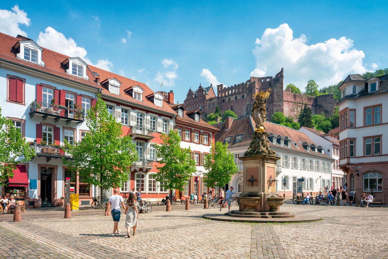 Heidelberg Hauptstraße Kornmarkt