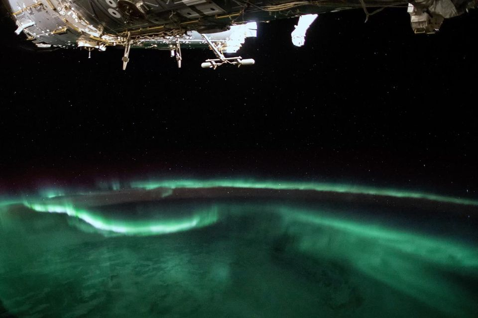 Polarlichter unter der ISS