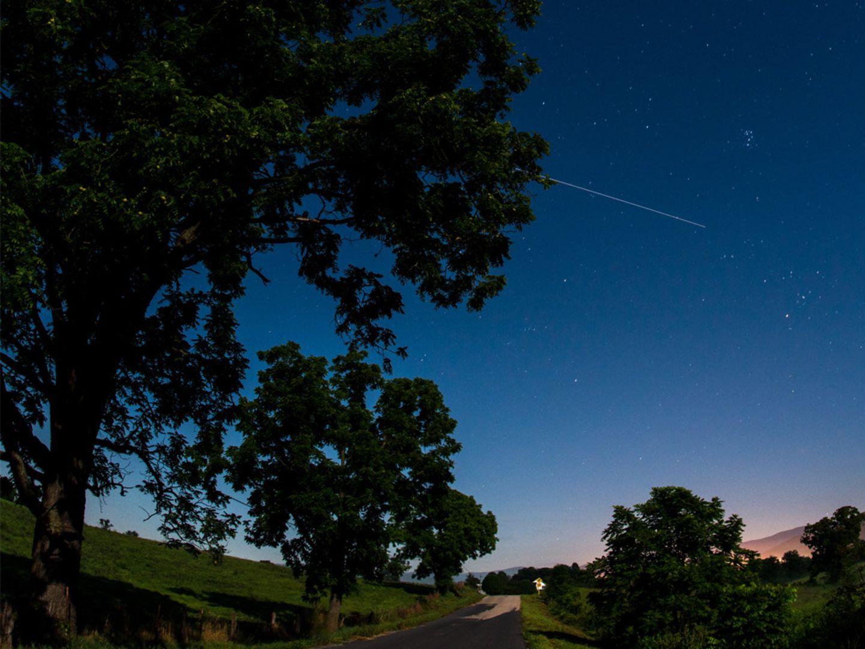 ISS am Himmel