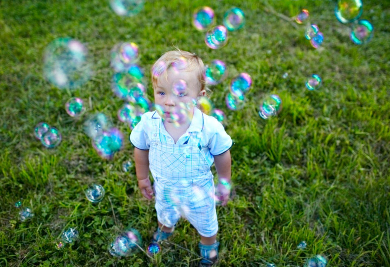 Seifenblasen, Kind