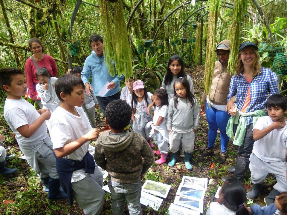 Ecuador: Auf Exkursionen in Waldschutzgebiete fällt das Lernen leicht