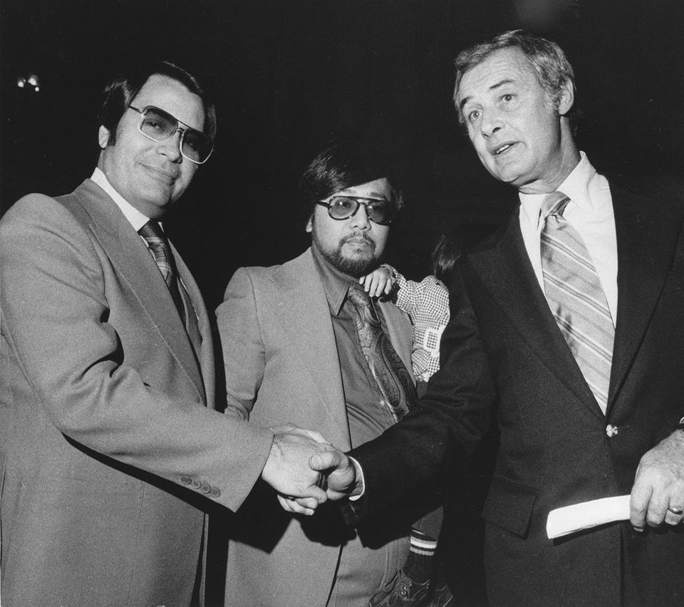 George Moscone und Jim Jones