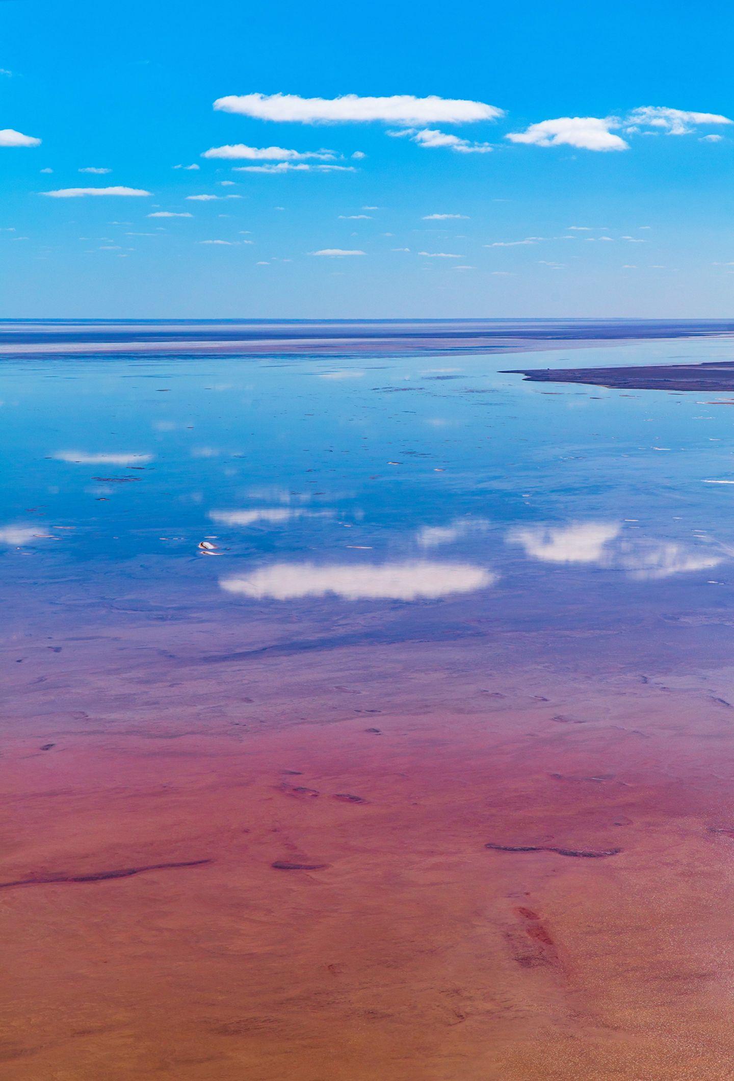 Lake Eyre führt wieder Wasser
