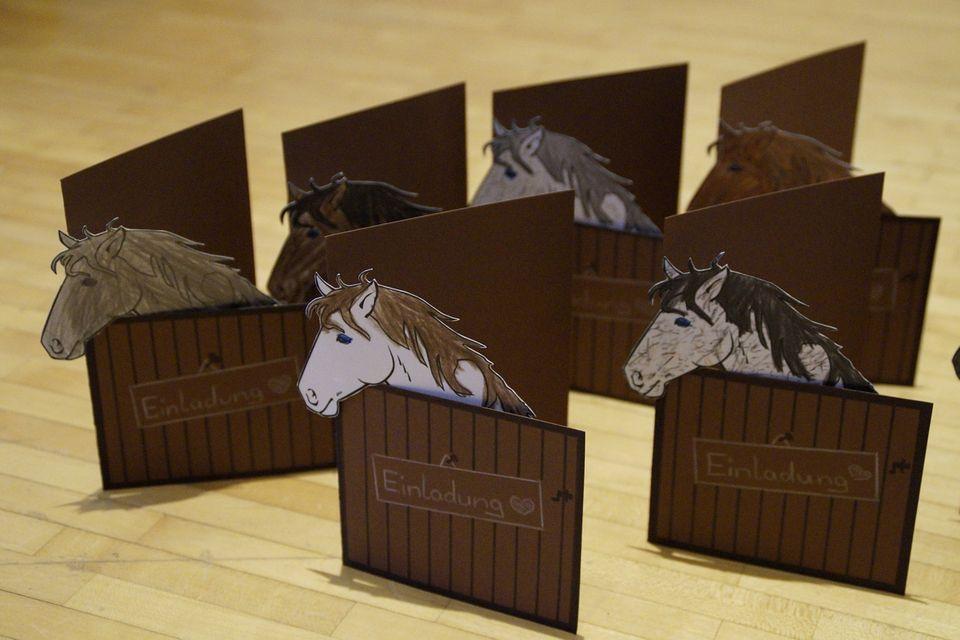 Pferde-Geburtstagskarte