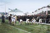 Hundert-Meter-Lauf bei den ersten Olympischen Spielen der Neuzeit 1896 in Athen