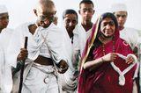 Mahatma Gandhi marschiert 1930 mehr als 300 Kilometer weit, um gegen die Unrechtsherrschaft der britischen Kolonialherren zu pr…