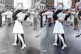 Das berühmte Kuss-Foto, das Alfred Eisenstaedt 1945 am Times Square in New York schoss