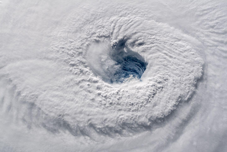 Hurrikan Florence fotografiert von Alexander Gerst