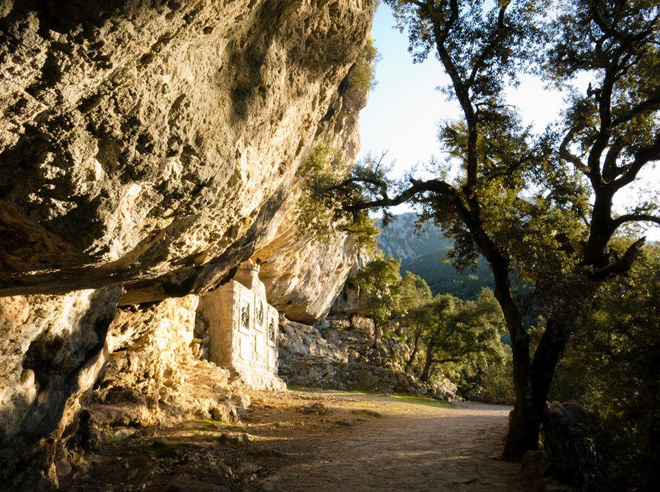 Wanderweg am Kloster Lluc auf Mallorca