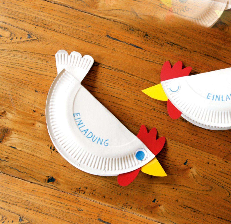 Hühner-Einladungskarte