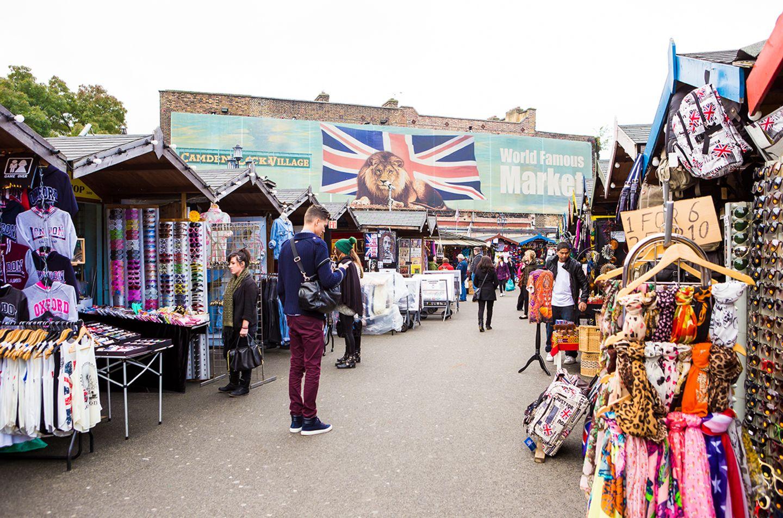 Blick auf die Stände von Camden Market