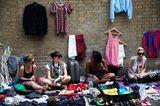 Verkäufer auf dem Brick Lane Market