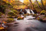 Hallamölla Wasserfall, Schweden