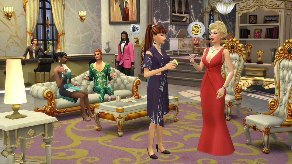 """Screenshot aus """"Sims 4 - Werde berühmt"""""""