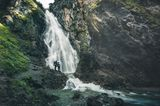 Wasserfall in der Nähe der Roßgumpenalm