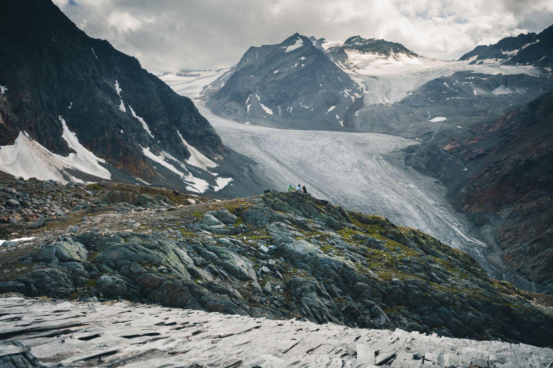 Aussicht auf ein Bergpanorama mit Wildspitze