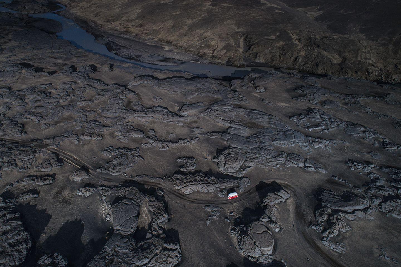Unterhalb des Dyngjujökull