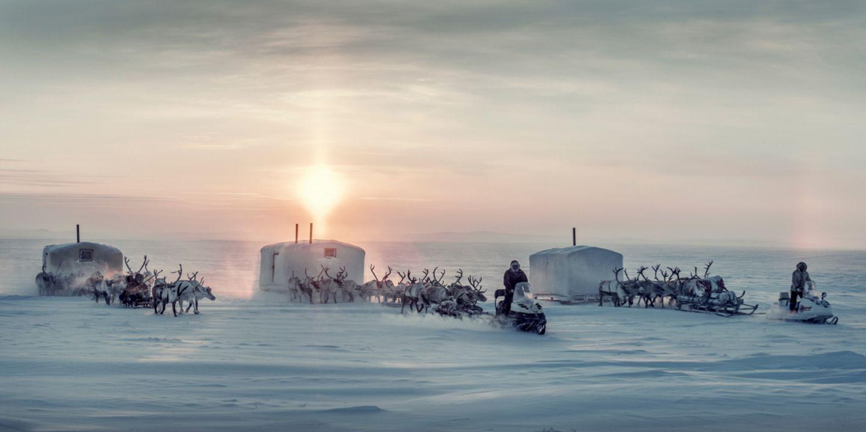 In Schnee und Eis leben die Dolganen als Rentierzüchter, Jäger und Fischer