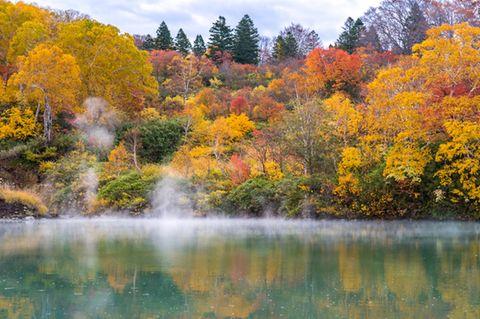 Lake Aomori, Hakkoda Mountains, Japan